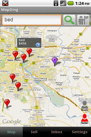 MapDing - screenshot