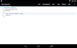 Screenshot of C4droid - C/C++ compiler & IDE