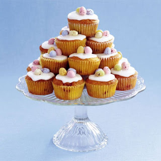 Cherry & almond Easter cupcakes