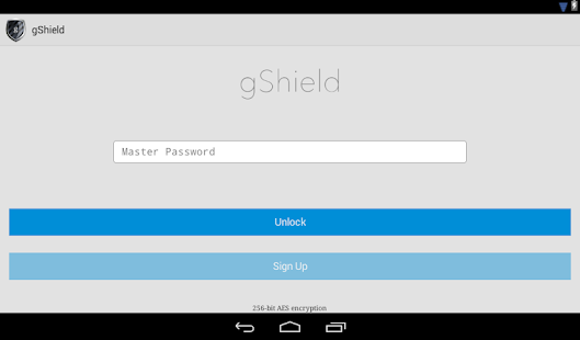 gShield Password Manager- screenshot thumbnail