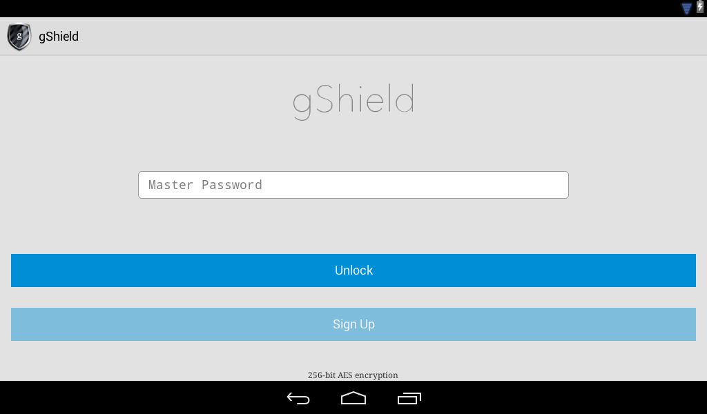 gShield Password Manager- screenshot