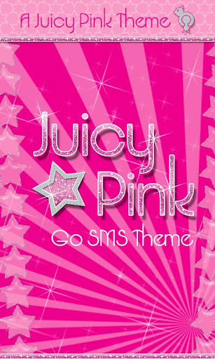 Juicy Pink Stars Theme GO SMS