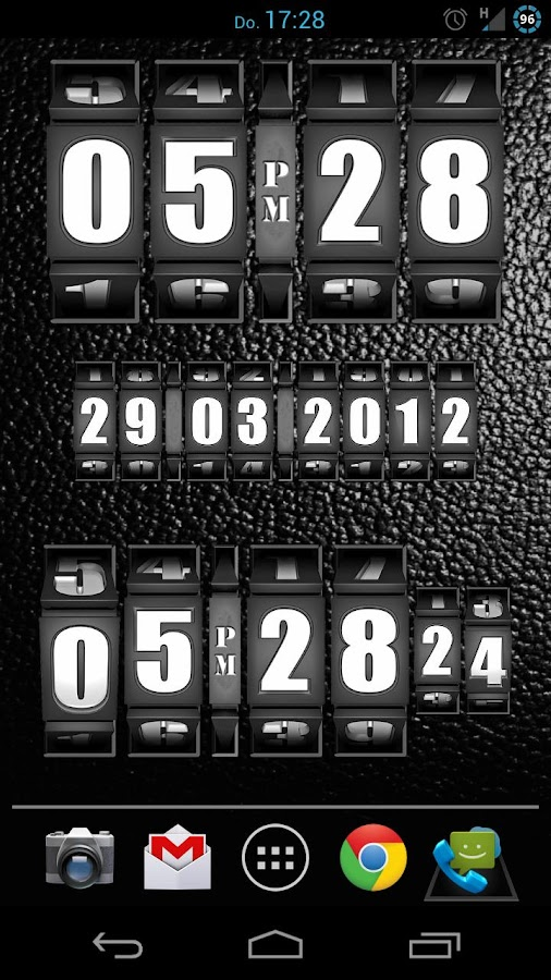 3D Rolling Clock BLACK - screenshot