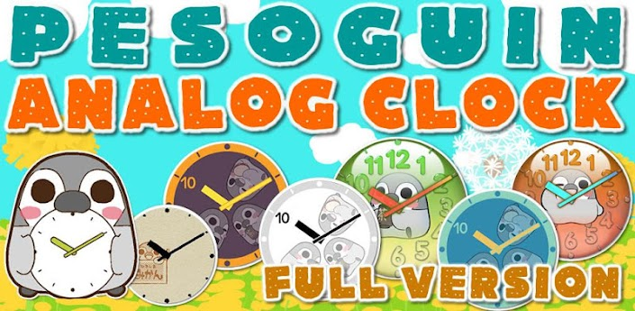 >Pesoguin Analog Clock Full apk