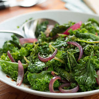 Sauteed Kale & Red Onions.