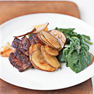 Steak and Potatoes with Mustard Vinaigrette.