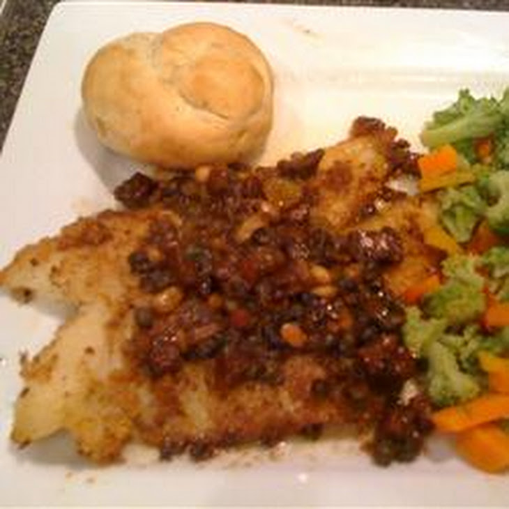 Pan Roasted Halibut with Calvados and Serrano Ham-Butter Sauce