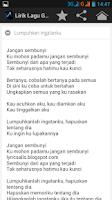 Screenshot of Lirik Lagu Geisha