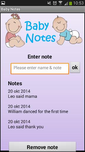 Baby Notes
