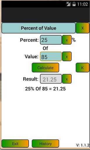 Percent Calculator Simple - AP