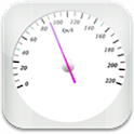 Android Application - GPS Speedometer: white version