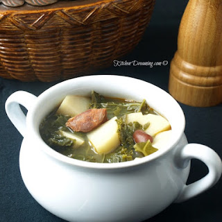 Portuguese Potato, Sausage and Kale Soup