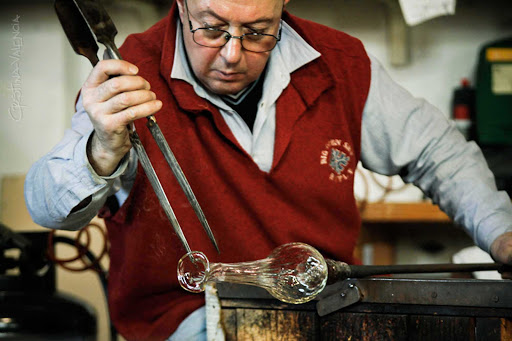 murano-venice-italy - Craftsman in Murano, Venice, which has a centuries-old tradition of exquisite glass-making.