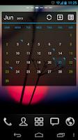 Screenshot of GO Calendar Widget