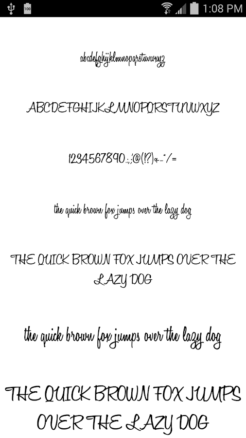Fonts for FlipFont 50 #9- screenshot