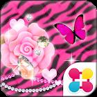 アニマル柄壁紙 ピンクローズ&ゼブラ icon
