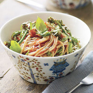 Broccolini-Basil Spaghetti