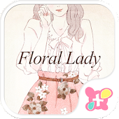 icon & wallpaper-Floral Lady-