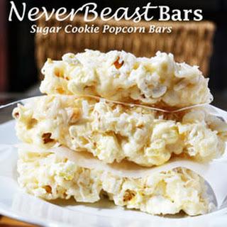 Sugar Cookie Popcorn Bars.
