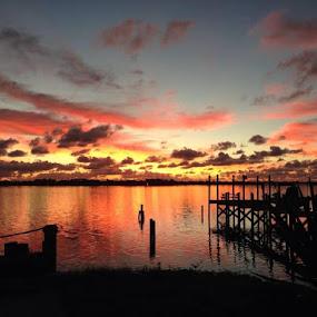 River Sunrise by Kimmarie Martinez - Landscapes Sunsets & Sunrises