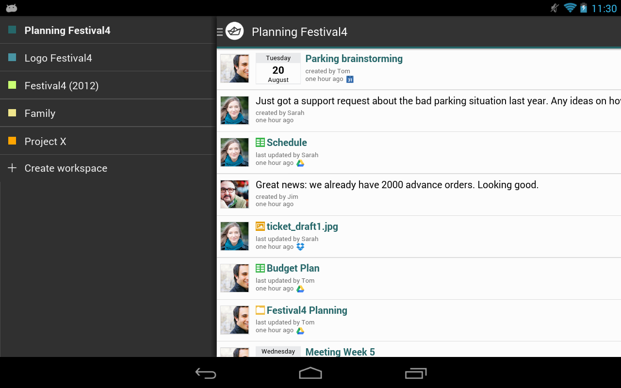 Hojoki - Project Management - screenshot