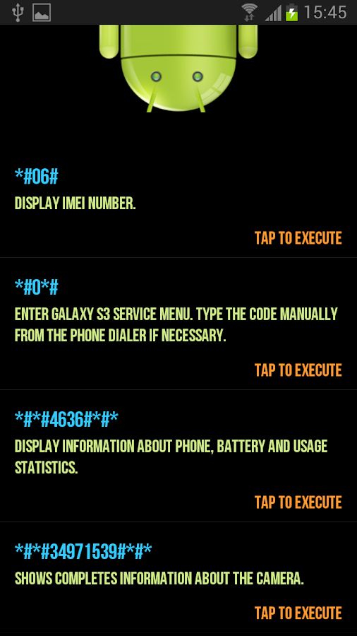 Secret Codes for Android- screenshot