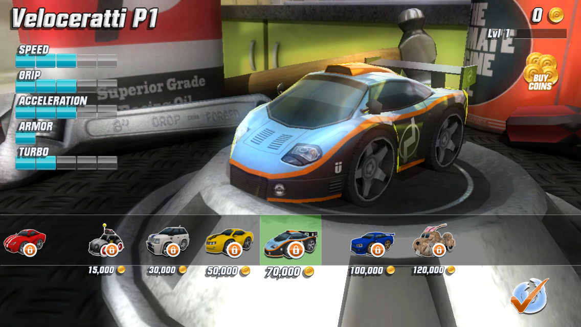 Screenshots of Table Top Racing Free for iPhone