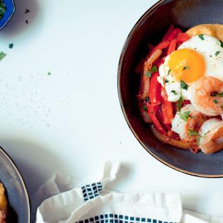 Pan-seared Shrimp With Polenta And Farm Eggs