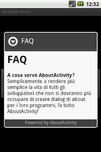 About Activity - screenshot thumbnail