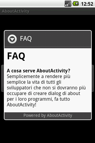 About Activity - screenshot