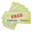 Cheques Gold Free icon