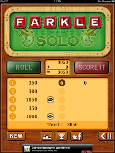 Farkle Solo - Free- screenshot thumbnail