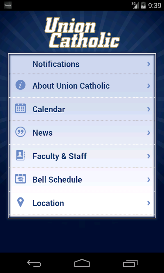 Union Catholic High School- screenshot