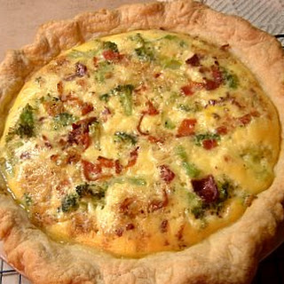 Zucchini, Bacon and Gruyere Cheese Quiche Recipe