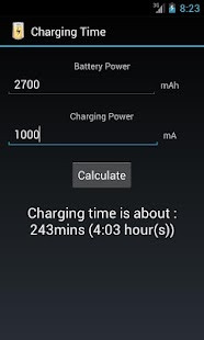 Charging Time - screenshot thumbnail