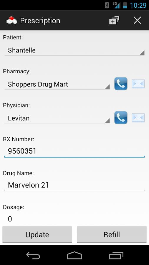 Prescription Monitor - screenshot