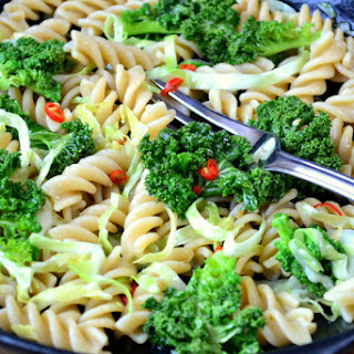 Kale and Cabbage Pasta.