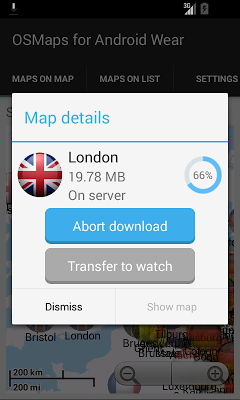 OSM Offline Maps Android Wear - screenshot