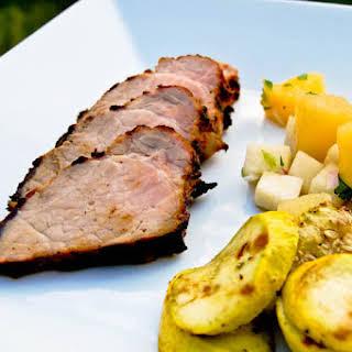 Caribbean Jerk Pork Tenderloin w/ Pineapple Jicama Salsa.