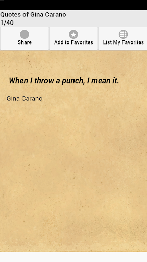 Quotes of Gina Carano
