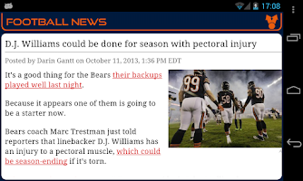 Screenshot of Chicago Football News