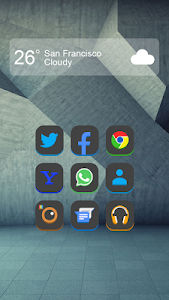 3Dex Black - Icon Pack, HD v1.3