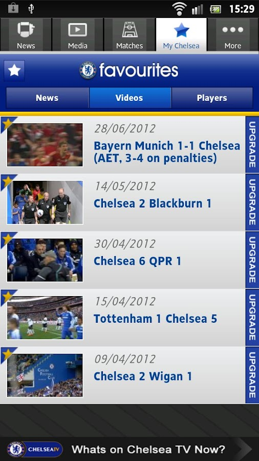 Official Chelsea FC - screenshot