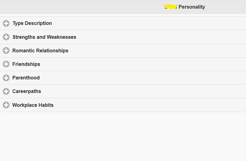 Scientific Personality Test- screenshot
