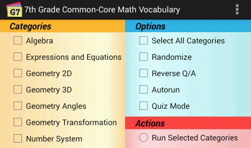 Common-Core Grade 7 Math Vocab