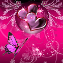Butterfly Pink Love Live Wallp icon