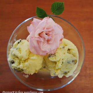 Persian Ice Cream with Saffron & Rosewater