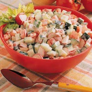 Creamy Summer Vegetable Salad.