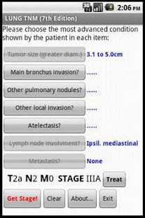 Lung TNM Calc - screenshot thumbnail