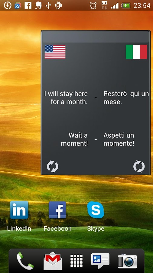 Learn Italian Widget- screenshot